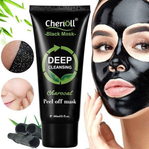 Cherioll Black Mask auf Gesicht auftragen und abziehen