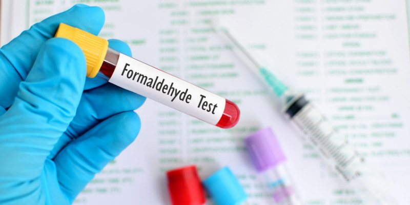 Probe Haarglaettungsmittel Formaldehyde Test
